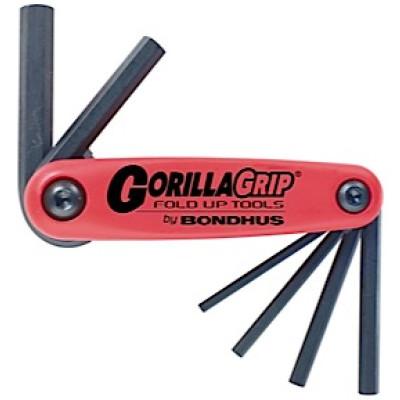 Bondhus - GorillaGrip Set 6 Hex Fold-up Tools 1,5 -6 mm (imbus)