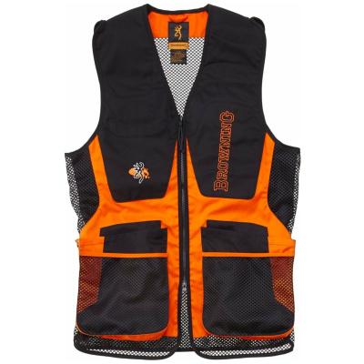 Browning Shooting Vest Claybuster Black Orange