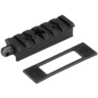 Constructed of rugged 6061 T6 aluminum with Type-III hard-coat anodized finish Provides Picatinny rail section for rail-mounted accessories Contains side swivel stud for continued use of sling Mounts to existing rifle swivel stud