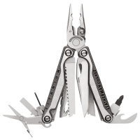 Multitool, Leatherman, Charge+TTI, 19f, rvs,
