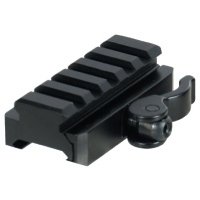 UTG 5-Slot QD Lever Mount Adaptor and Riser, Medium Profile