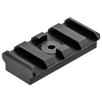 UTG PRO M-LOK(TM) 4-Slot Picatinny Rail Section, Black